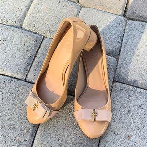 Tory Burch nude block heels!